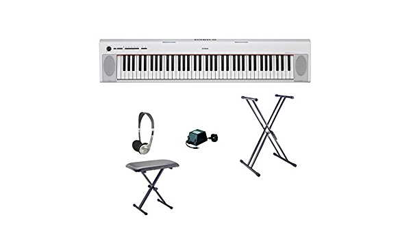 Teclado Yamaha NP32 | blanco | Bundle: Amazon.es ...