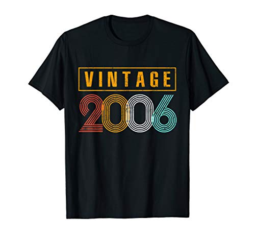 13 Years Old 2006 Vintage 13th Birthday T Shirt Decorations ()