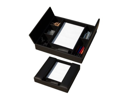 Offex Classic Black Leather Enhanced Conference Room Organizer (OF-A1090) by Offex