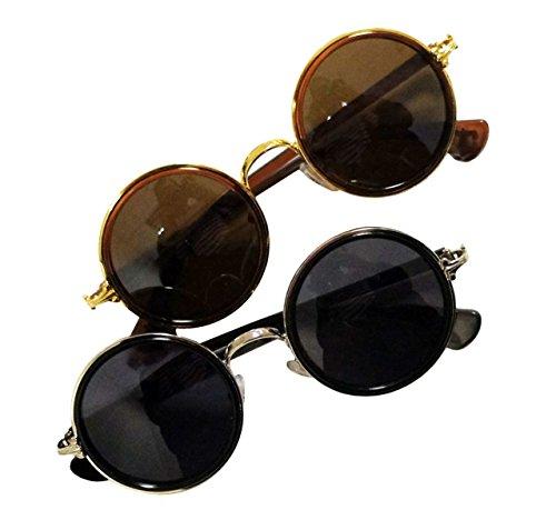 Style Sunglasses John Lens Uv400 2 Métalliques 5454b Sombre Lot Hand Retro De Teintées Lennon 0Ywn6H