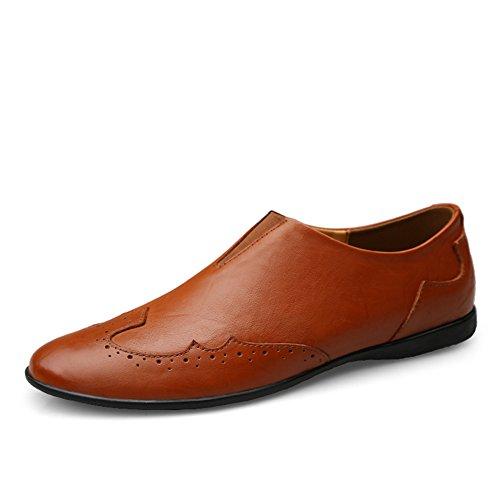 Marrón para Conducción Vestir Mocasines Zapatos Rojo Verano Hombre Negocios Moda On Formales Slip 7qqndpvwx
