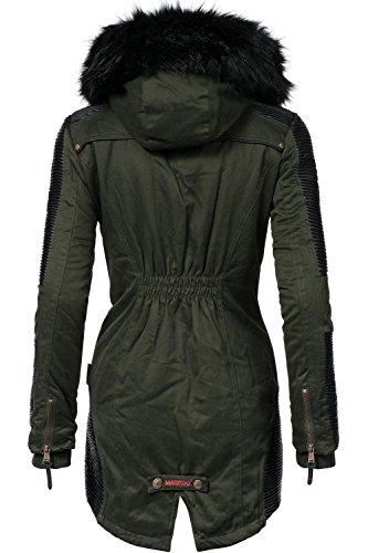 Mujer Abrigo Verde Parka Larissa Colores Marikoo Xs Invierno Para 9 xxl Oliva De xRqY5P5Iw
