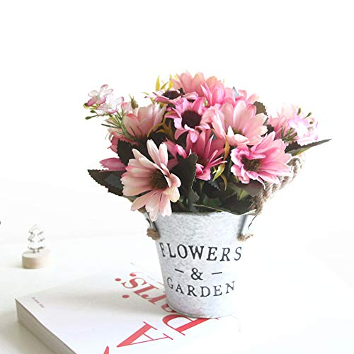 Charmly Artificial Flowers Potted European Style Design Silk