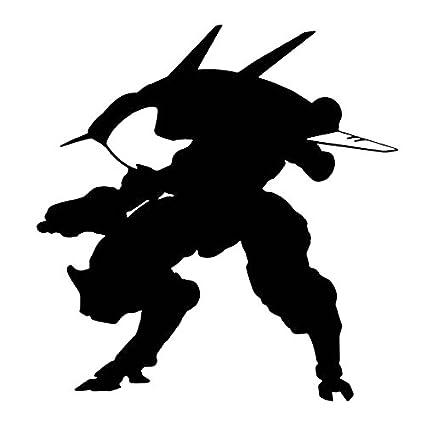 Amazon Com Overwatch Video Game D Va Mech Silhouette Vinyl Stickers