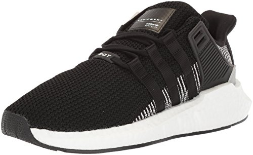 adidas Originals Men's EQT Support 93/17 Running Shoe, Black/White, 10 M US