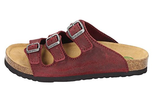 Dr. Brinkmann Ladies Lowbed Pantolette Rosso - Scarpe Di Grandi Dimensioni Rosso