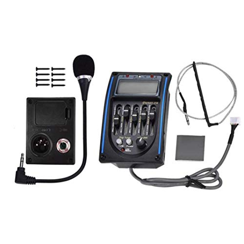 difcuyg5Ozw Portable Acoustic Guitar Pickup 5-Band Preamp LCD Backlight EQ Equalizer Digital Tuner Part Accessories - - Preamp Soundhole Guitar