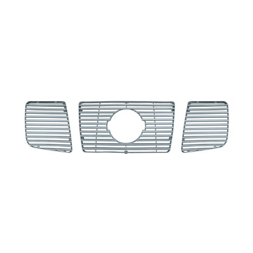 Bully  GI-32 Triple Chrome Plated ABS Snap-in Imposter Grille Overlay, 3 Piece