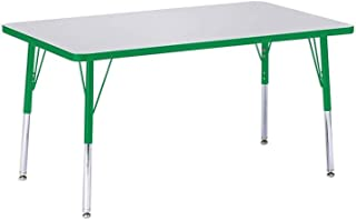 """product image for Jonti-Craft Kydz Activity Table 30"""" X 48"""" Rectangle/Gray Top/Green Edge/Toddler Height"""