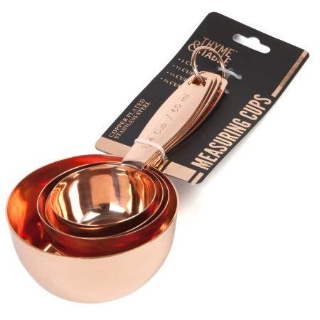 Copper Plated Stainless Steel Measuring Cups Kitchen Tool Set