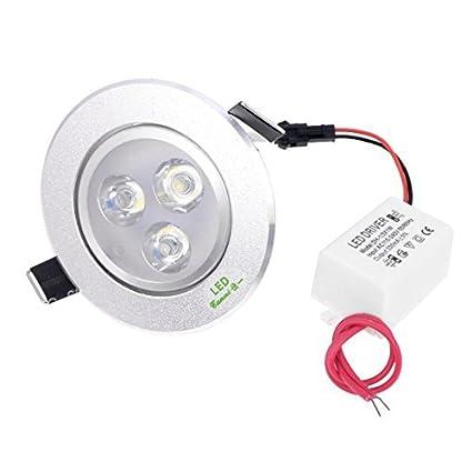 CA 110-240V 3W 3 LED de ahorro de energía del techo bombilla abajo blanco