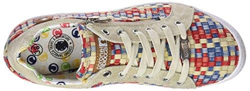 Coronel Tapioca Lona Chica Pasados Beige/Rojo/Azul, Zapatillas de Senderismo Para Mujer Varios Colores (Beige /   Rojo /   Azul 0)