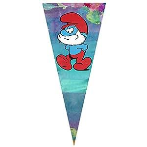 """Para colgar los Pitufos asistentes bandera Sing capa triángulo bandera Banner Vertical 12""""x30"""""""