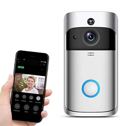 Bluefringe WiFi Smart Video Doorbell Camera Wireless Door Bell 720P HD Wireless Home Security Doorbell Camera with 32GB Storage Card(Not Included) by Bluefringe (Image #1)