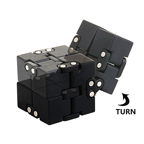 Hiteey Fidget Cube Infinite Cube Multifunction Metal Bearing Fidget Toys for Relieving ADHD, Anxiety, Boredom-Best Stress Reducer for Adult Child Killing Time