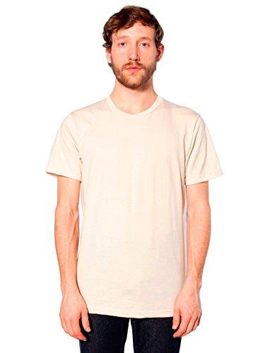 (American Apparel  Unisex Fine Jersey Short Sleeve T-Shirt, Creme, X-Large )