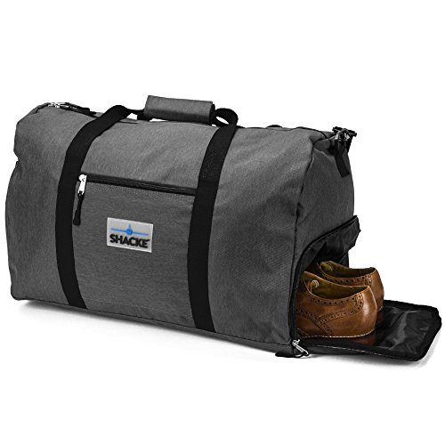 Shacke's Travel Duffel Express Weekender Bag - Carry On Luggage with Shoe Pouch (38L, Dark - Bags And Luggage