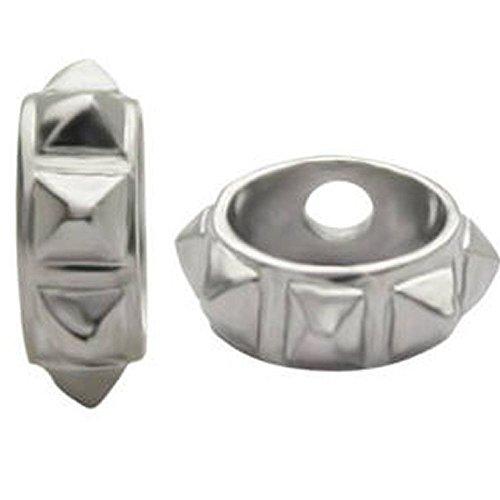 Studded Ball Shield - Surgical Steel Ball Shields - Studded 1.2mm x 3mm