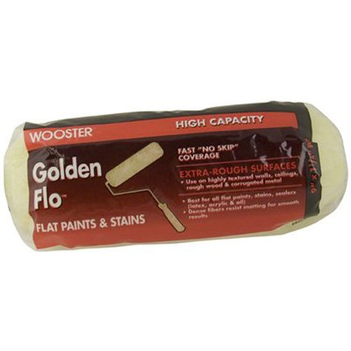 Wooster Brush RR664-9 Golden Flo Roller Cover 1 1/4-Inch Nap, 9-Inch