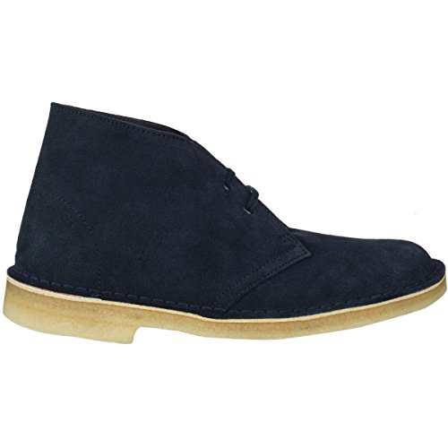 CLARKS Women's Desert Suede Boot, Dark Navy Suede, 7 M (Originals Desert Boot)