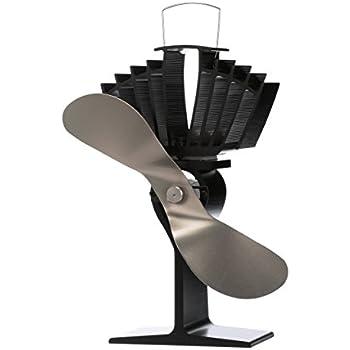 Ecofan AirMax. Heat Powered Stove Fan. Authentic 2 Blade Canadian Design. Nickel.