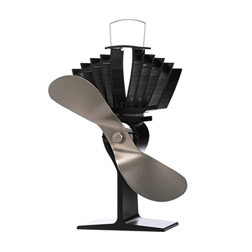Ecofan AirMax. Heat Powered Stove Fan. Authentic 2 Blade Canadian Design. Nickel.