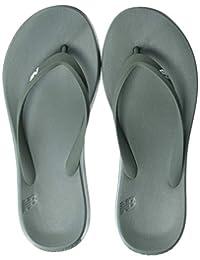 New Balance Unisex 24v1 Thong Sandal, Olive/White, 6 B US