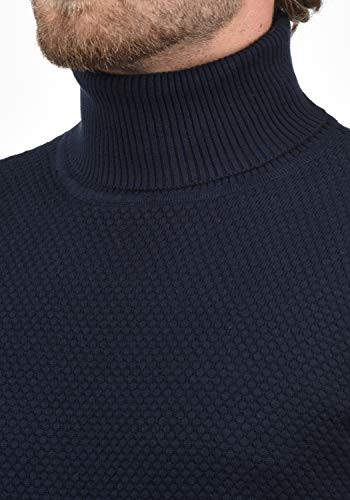 1991 Insignia Karlos Homme Roulé over À Col Blue Pull Pull Tricot solid PwdqZzz