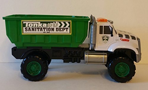 (Tonka Rescue Force Garbage Truck Dump Truck With Flashing Lights and Multiple Sounds!)