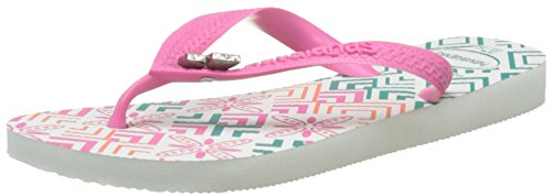 F 8519 Pink White Multicolor Chanclas 4136935 Havaianas Mujeres Shocking AqnPU66F