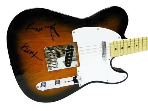 Nirvana Autographed Facsimile Signed Fender Guitar Kurt Cobain David Grohl Krist HollywoodMemorabilia