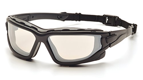 Pyramex I-Force Slim Safety Goggle SB7080SDNT, Black Frame/Indoor/Outdoor Mirror Anti-Fog Lens by Pyramex Safety