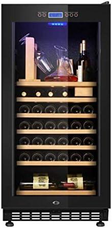YFGQBCP Vino y Bebidas refrigerador  Vino de la Cerveza del refrigerador del refrigerador  Bebida con Patas de Puerta Francesa Frigorífico con Control de Temperatura Memoria Digital