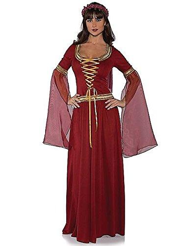 Renaissance Maiden Costumes (Underwraps Costumes Women's Renaissance Queen Costume - Maiden, Burgundy, X-Small)
