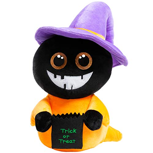 Halloween Trick Or Treat Computer Game (HollyHOME Plush Ghost Halloween Decoration Stuffed Animal Ghost Dolls with Witch Magic Hat Stuffed Dolls Trick or Treat,15)