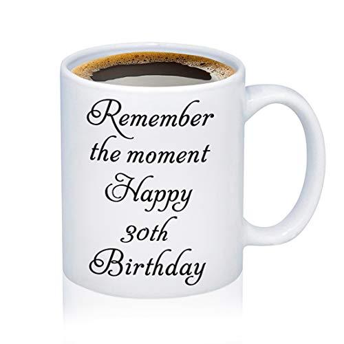 Happy Birthday Coffee Mug Gift 21st 30th 40th Birthday Gift Birthday Cup for Grandma, Mom, Dad, Sister, Aunt, Brother, Girlfriend, Boyfriend (12oz-30th Birthday)