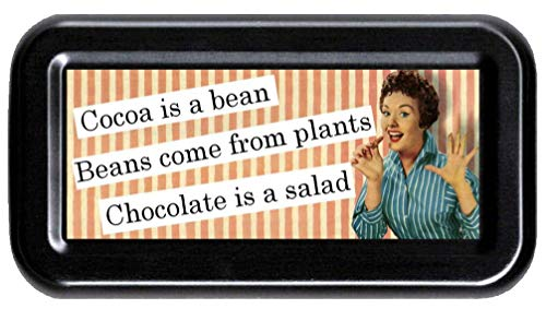 Sarcastic Meme Girl Humor: Funny Bachelorette, White Elephant Gag Gift Tampon Case (Chocolate is a Salad) ()