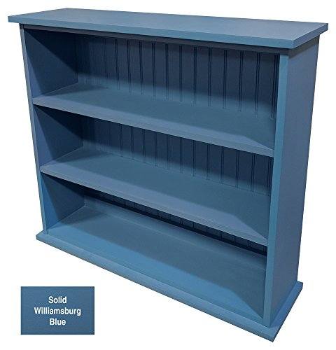 Cheap Sawdust City Solid Wood Hall Bookcase (Solid Williamsburg Blue)