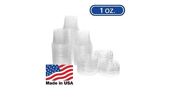 Vasos de porción desechables de plástico transparente, 1 onza ...