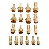 Maslin 5Pc Brass Pipe Fitting 6mm 8mm 10mm 12mm