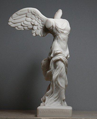 - Winged Nike Victory of Samothrace Greek Goddess Alabaster Statue Sculpture 7.8΄΄