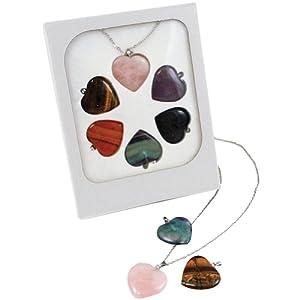 Amazon interchangeable gemstone heart pendants arts crafts interchangeable gemstone heart pendants mozeypictures Image collections