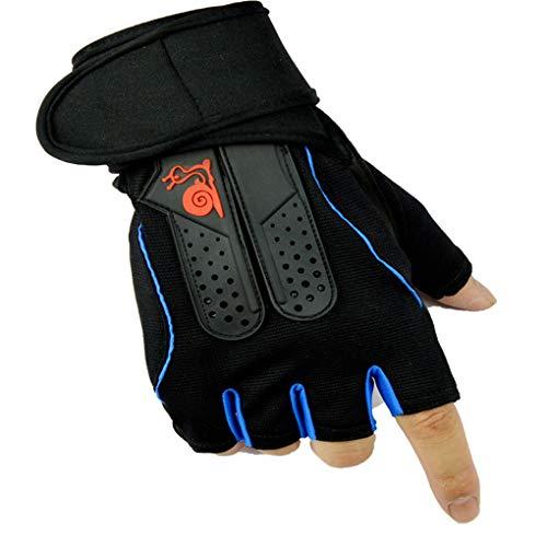 - Gloryelenxs Unisex Cycling Half Gloves Mittens Anti-Slip Breathable Men Women Sports Bike Short Gloves