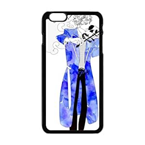 Blue guitar gentleman Cell Phone Case for Iphone 6 Plus