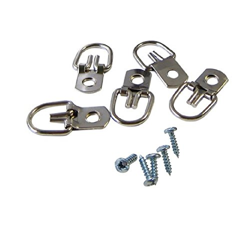 1000 Pack D-Ring Picture Hanger with Screws | D-Ring Hangers Bulk 1000 Pack