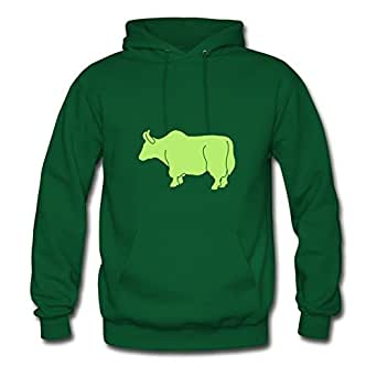 Women Wildlife: The Yak Sweatshirts -x-large Styling Print Green