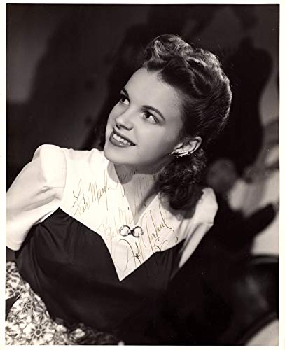 Vintage Hand Signed (JUDY GARLAND Autographed Vintage Hand SIGNED 1940's Vintage 8x10 Photo w/LOA Vintage Hollywood Wizard of Oz)