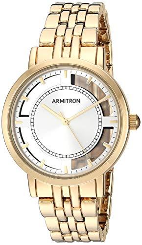 Armitron Women's Gold-Tone Bracelet Watch, 75/5728SVGP