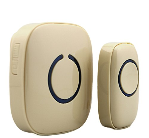 SadoTech Model C Wireless Doorbell Operating at over 500-feet Range with Over 50 Chimes, No Batteries Required for Receiver, (Beige) (Spore Doorbells)