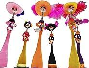 paquete de 6 figuras catrina mexicana de 21 cm